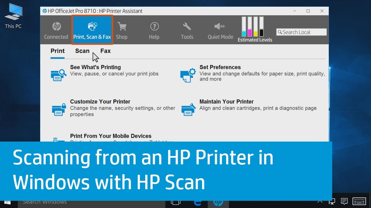 How To Scan From My HP Printer?